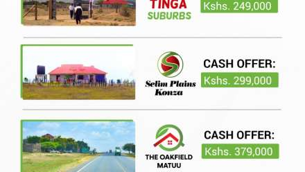 April Land Offers in Kenya by Username